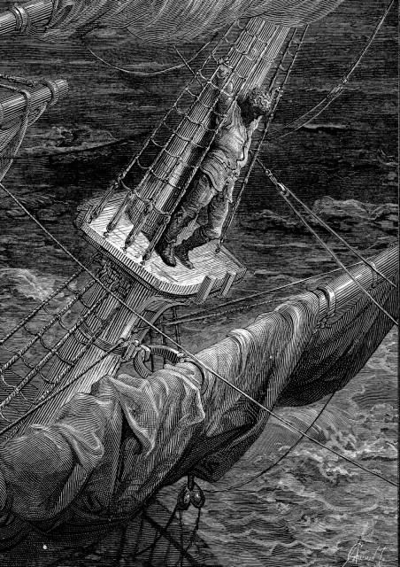 """Ilustración de Gustave Doré de """"La balada del viejo marinero"""""""
