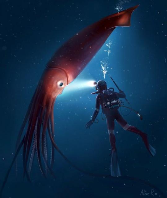 Criaturas de las profundidades oscuras